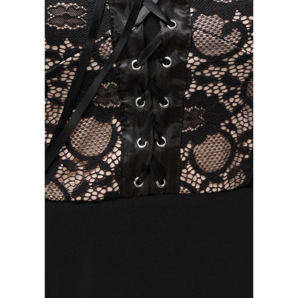 Melrose Jerseykleid, mit Spitze und Schnürung- NEUE KOLLEKTION