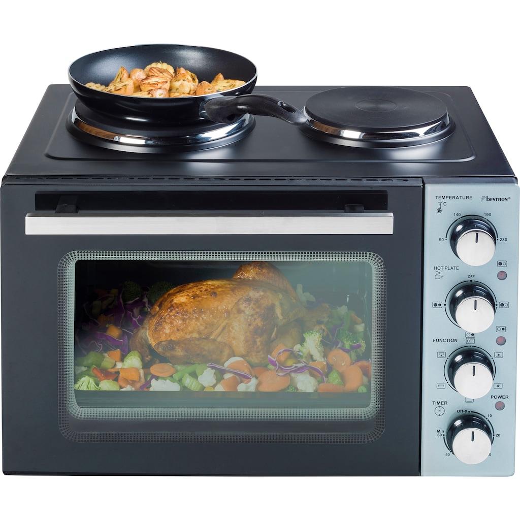 bestron Minibackofen »AOV31CP«, Grill-Ober-/Unterhitze-Umluft, 3200 W