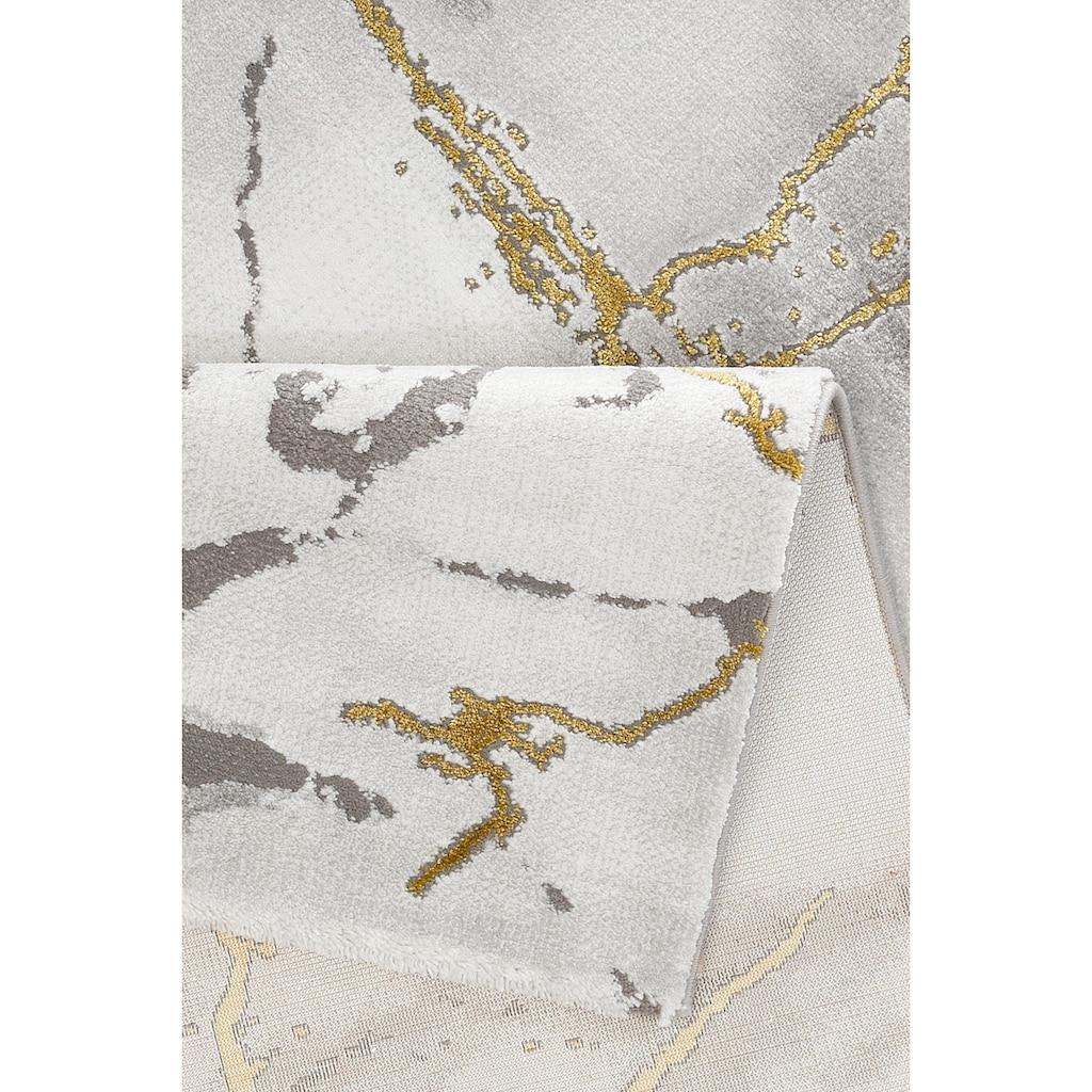 Leonique Teppich »Juliet«, rechteckig, 12 mm Höhe, moderne Marmor-Optik, Wohnzimmer