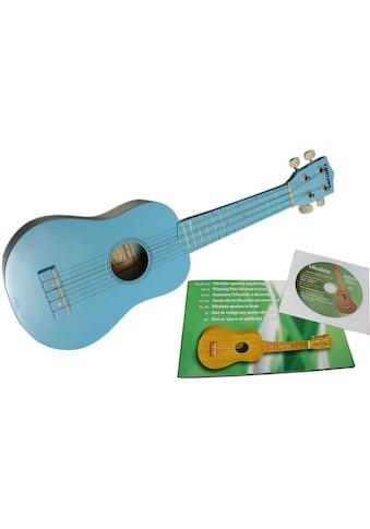 """Clifton Ukulele """"Sopran Ukulele mit Buch und CD, blau"""" kaufen"""