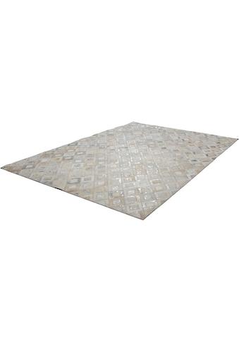 Kayoom Lederteppich »Spark 110«, rechteckig, 8 mm Höhe, Patchwork-echtes Leder-Fell, Wohnzimmer kaufen