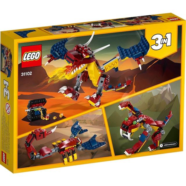 "LEGO® Konstruktionsspielsteine ""Feuerdrache (31102), LEGO® Creator"", Kunststoff, (234-tlg.)"