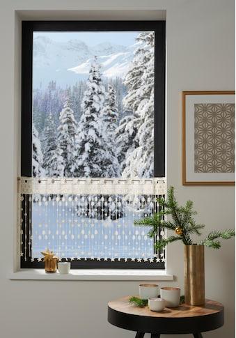 my home Scheibengardine »Tanne«, HxB: 45x115, Weihnachtsgardinen kaufen