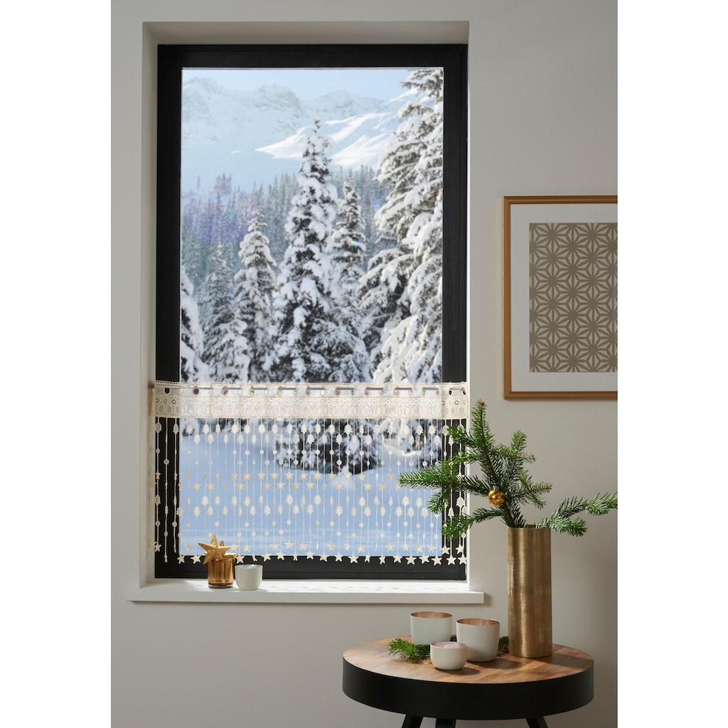 my home Scheibengardine »Tanne«, HxB: 45x115, Weihnachtsgardinen