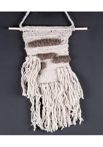 THEKO Wandteppich »Wallart KnotLove«, rechteckig, 15 mm Höhe, Wanddeko, reine Wolle, handgefertigt, im Boho-Stil, Wohnzimmer kaufen