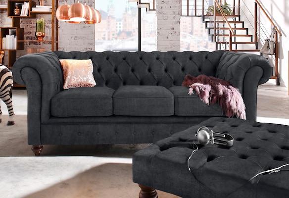 Chesterfield Sofa in Grau