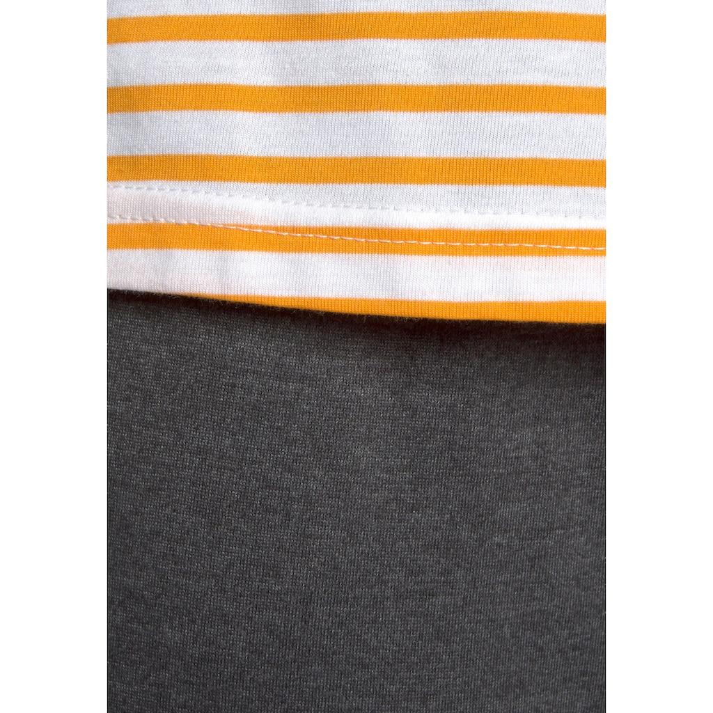 Vivance Dreams Pyjama, im Streifenmuster mit 3/4-Ärmeln