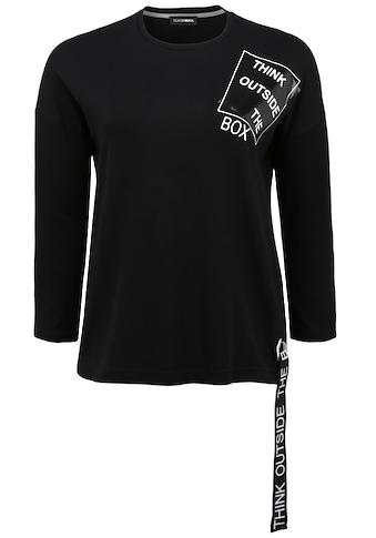 Doris Streich T-Shirt »THINK OUTSIDE THE BOX«, mit breitem Statement-Band kaufen