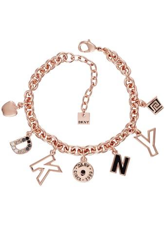 DKNY Armband »DKNY Charm BR (RG), 5520048«, mit Swarovski® Kristallen und Emaille kaufen