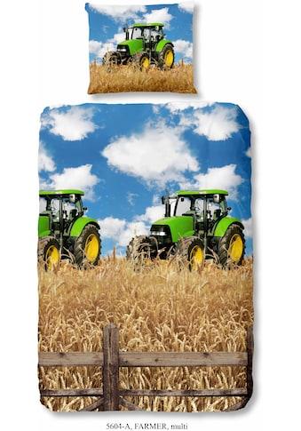 good morning Kinderbettwäsche »Farmer«, mit Treckermotiv kaufen