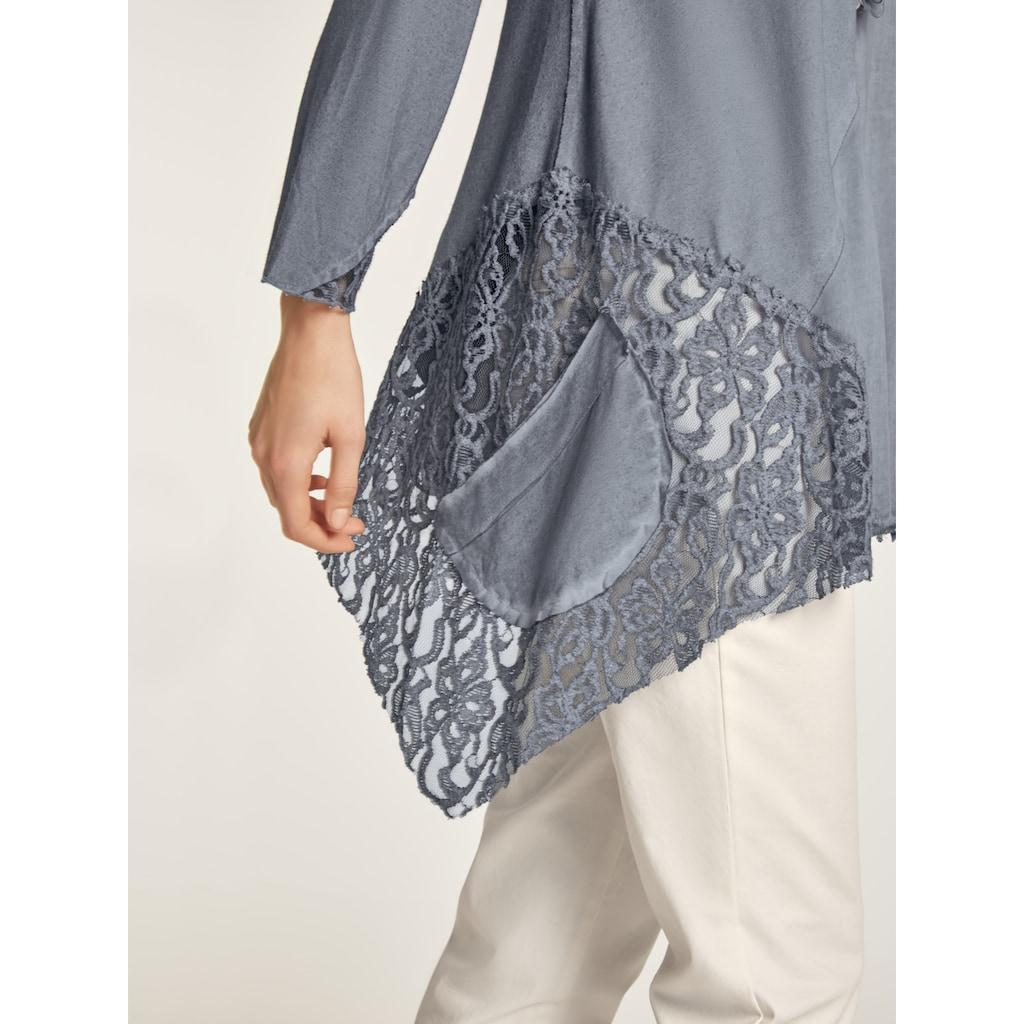 Rundhalsshirt im oversized Look