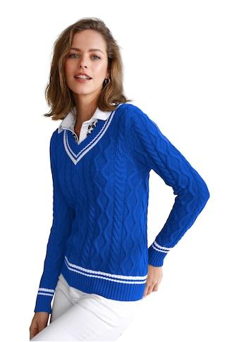 Looxent V-Ausschnitt-Pullover »im jungen College-Style«, mit Streifen kaufen
