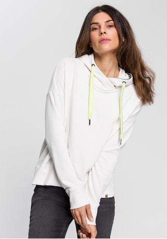 camel active Sweatshirt, Kapuze mit innenliegendem Band in Streifen-Optik kaufen