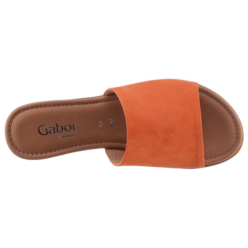 Gabor Pantolette »RHODOS«, mit Strecheinsatz