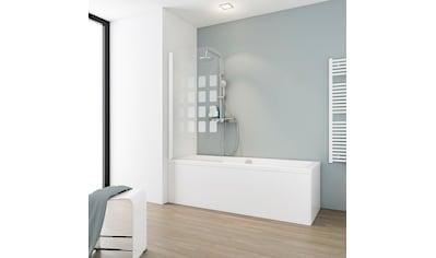Schulte Badewannenaufsatz »Cubic«, BxH: 80 x 140 cm, mit Dekor Cubic, Komfort kaufen