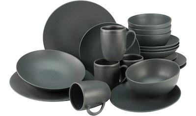 CreaTable Kombiservice »Soft Touch Black«, (Set, 20 tlg.), seidenmatte Glasur kaufen