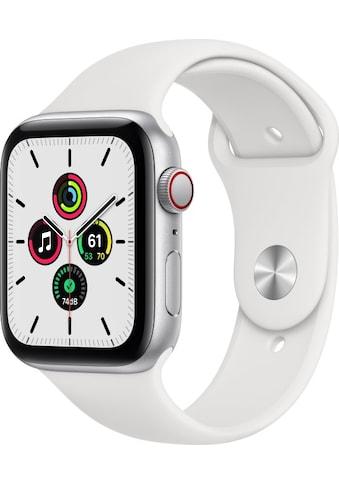 Apple Smartwatch »Apple Watch Series SE GPS + Cellular, Aluminium Gehäuse, 44 mm mit Sportarmband«, ( ) kaufen