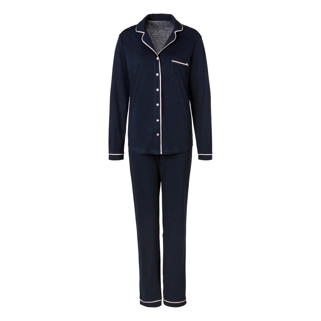 s.Oliver Bodywear Pyjama, im klassischen Streifen-design
