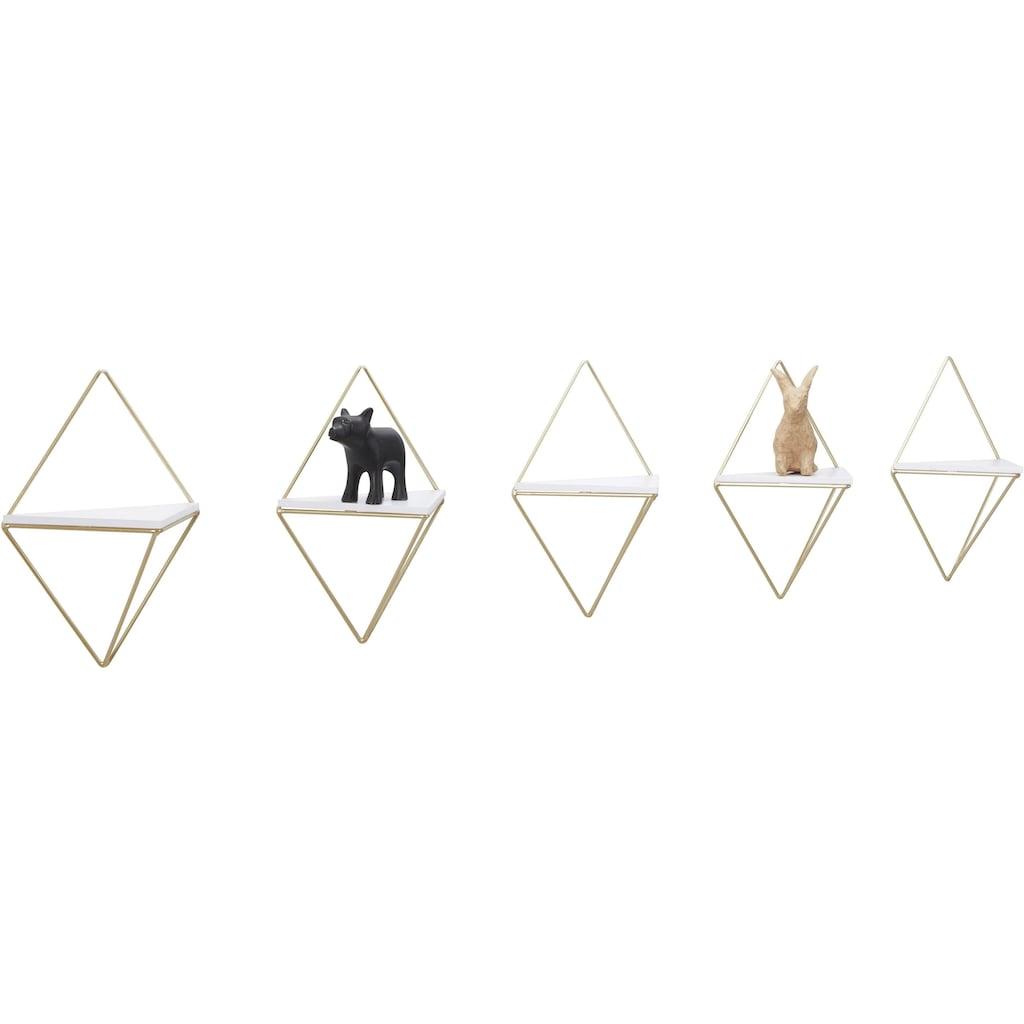 COUCH♥ Wandregal »Rauten Rudel«, (Set, 5 St.), COUCH Lieblingsstücke, Dekoregal, Wanddeko