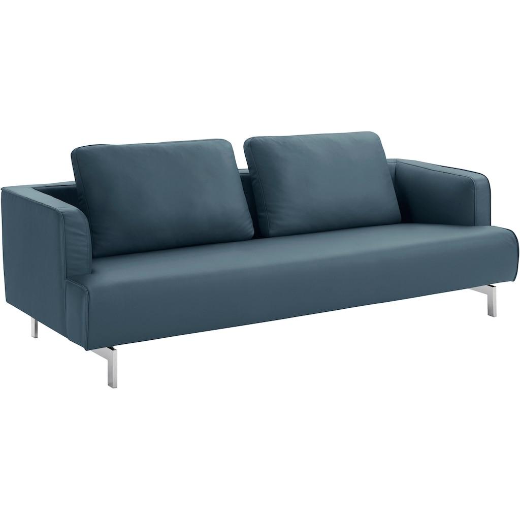 hülsta sofa 4-Sitzer »hs.440«, wahlweise in Stoff oder Leder, Spangenfüße glanzchrom