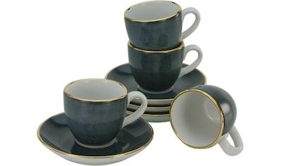 Guido Maria Kretschmer Home&Living Espressotasse »Glamour«, (Set, 8 tlg., 4 Tassen-4 Untertassen), 4 Tassen, 4 Untertassen), Porzellan, handgemalt, democratichome Edition kaufen