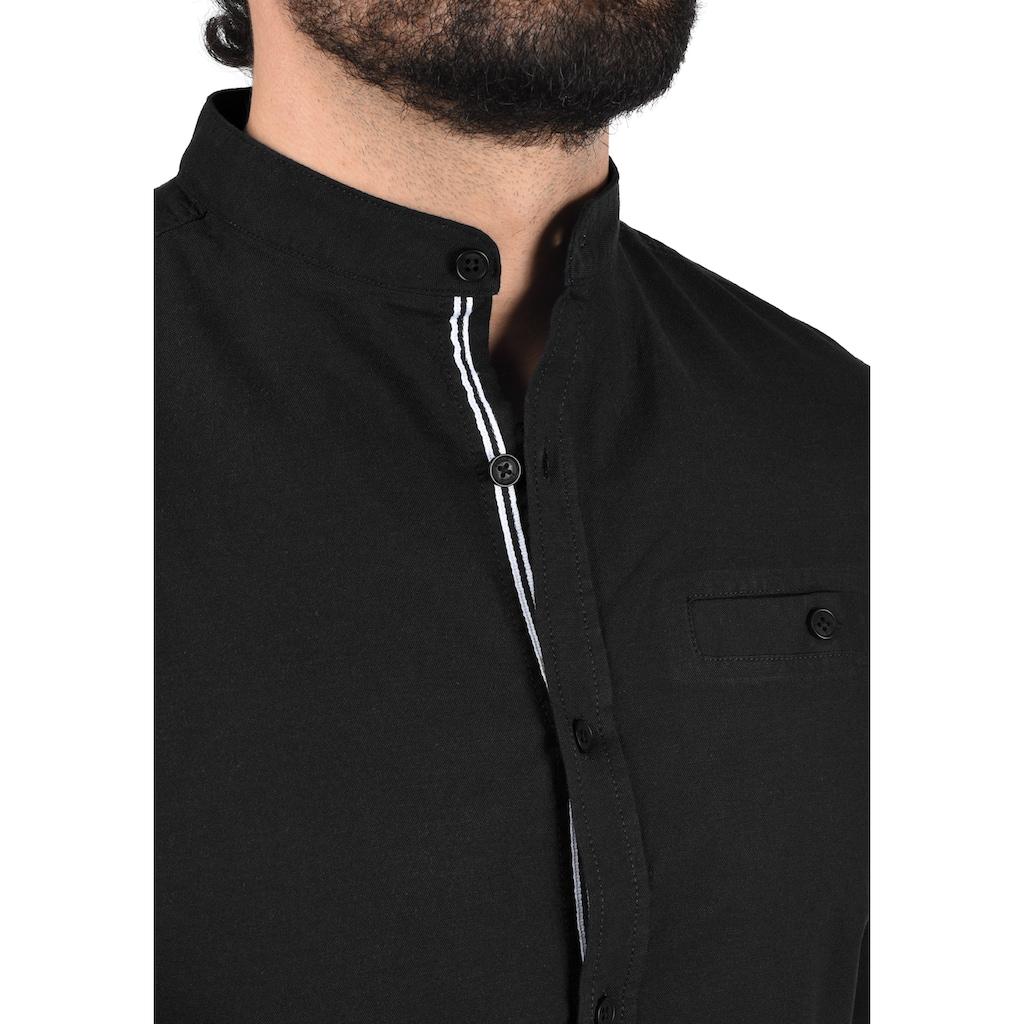 Solid Langarmhemd »Allion«, Hemd mit Knopfleiste
