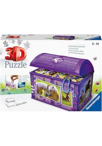 Ravensburger 3D-Puzzle »Schatztruhe Pferde«, Made in Europe, FSC® - schützt Wald - weltweit kaufen