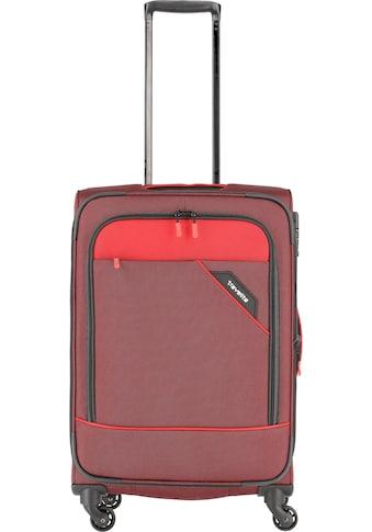 travelite Weichgepäck-Trolley »Derby, 66 cm, rot«, 4 Rollen, mit Volumenerweiterung kaufen