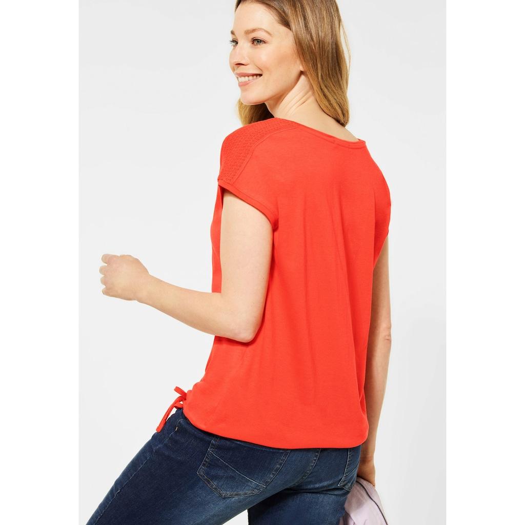 Cecil T-Shirt, mit Smok-Details an den Schultern