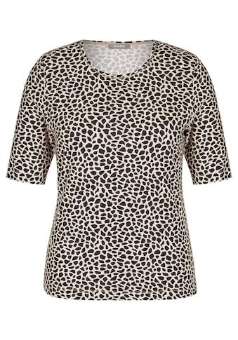 Rabe Rundhalsshirt, mit Animalprint und halblangen Ärmeln kaufen