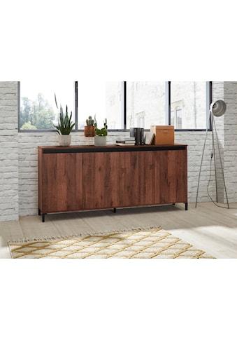 KITALY Sideboard »Genio Industrial«, Mit wendbare Blende in weiß/ anthrazit, Breite... kaufen