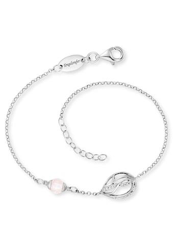 Engelsrufer Armband »Himmelsträne mit Lebensblume, ERB-TEARLIFL-RQ-ZI«, mit Rosenquarz und Zirkonia (synth.) kaufen
