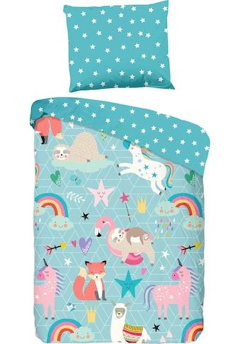 good morning Kinderbettwäsche »Moody«, mit kindlichem Tierprint kaufen