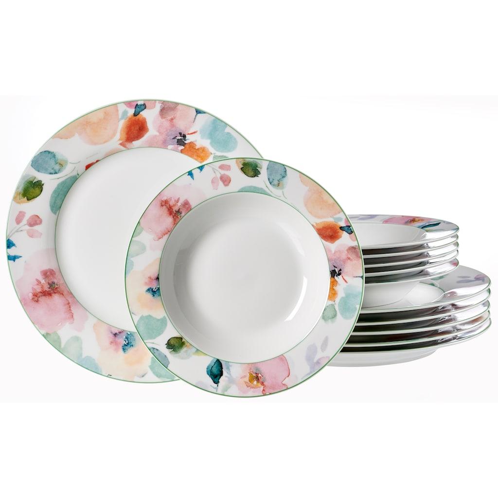 Ritzenhoff & Breker Tafelservice »Celine«, (Set, 12 tlg.), Floral-Dekor