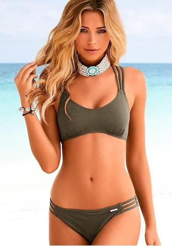Bruno Banani Bustier-Bikini, mit Zierbändern kaufen