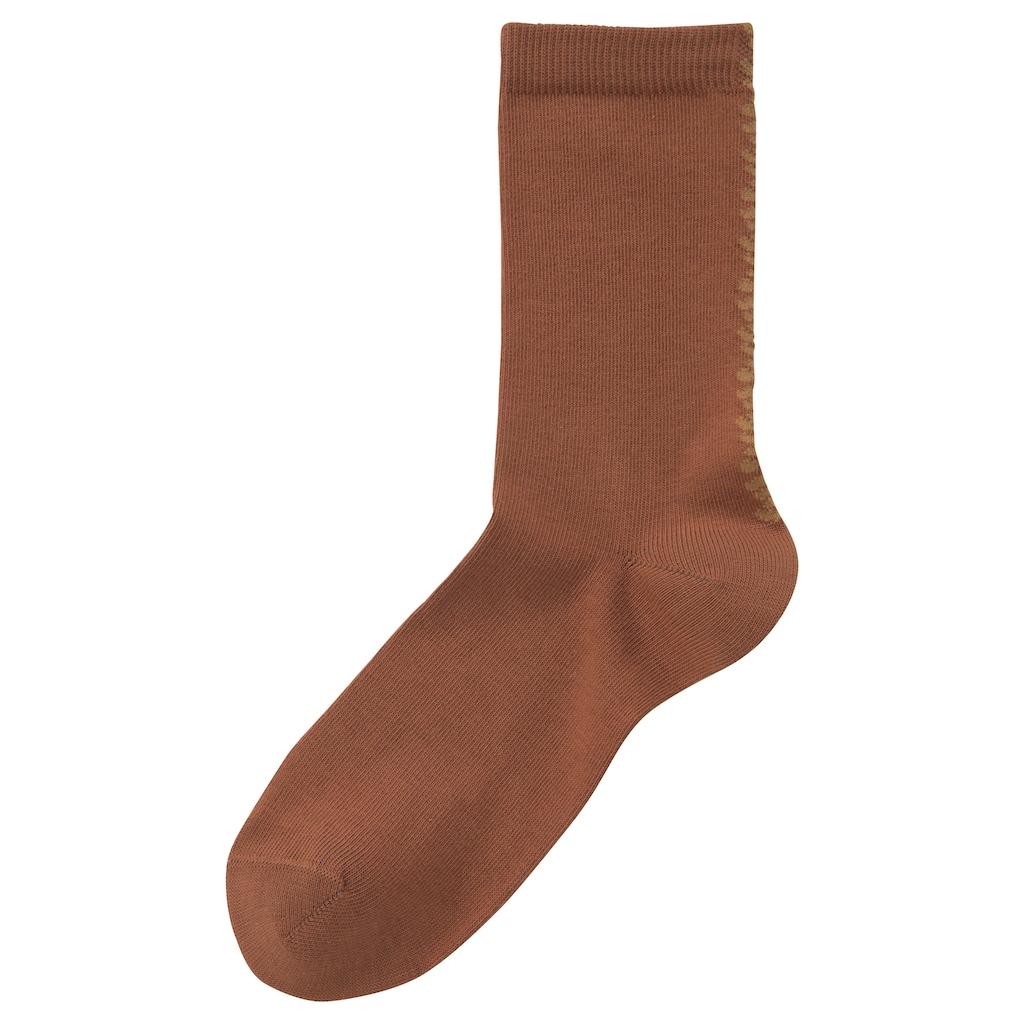 Buffalo Socken, uni mit Leodesign