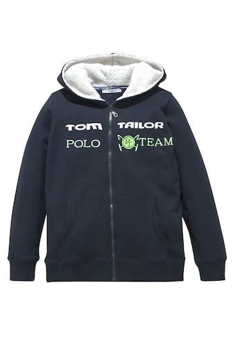 TOM TAILOR Polo Team Kapuzensweatjacke, mit toller Stickerei kaufen