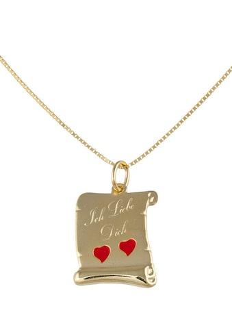 """Firetti Kette mit Anhänger »Schriftrolle«, mit fester Gravur """"Ich liebe Dich"""" kaufen"""