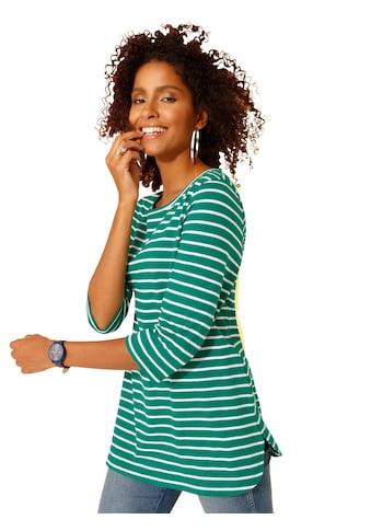 Classic Basics Longshirt mit fröhlichen Ringelreihen kaufen
