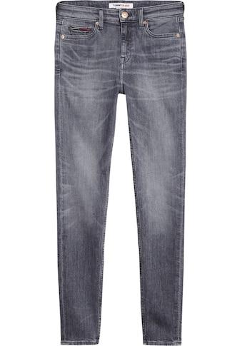 Tommy Jeans Skinny-fit-Jeans »NORA MR SKNY ANKLE BTN ASTBKD«, mit Knöpfen am Beinabschluss kaufen