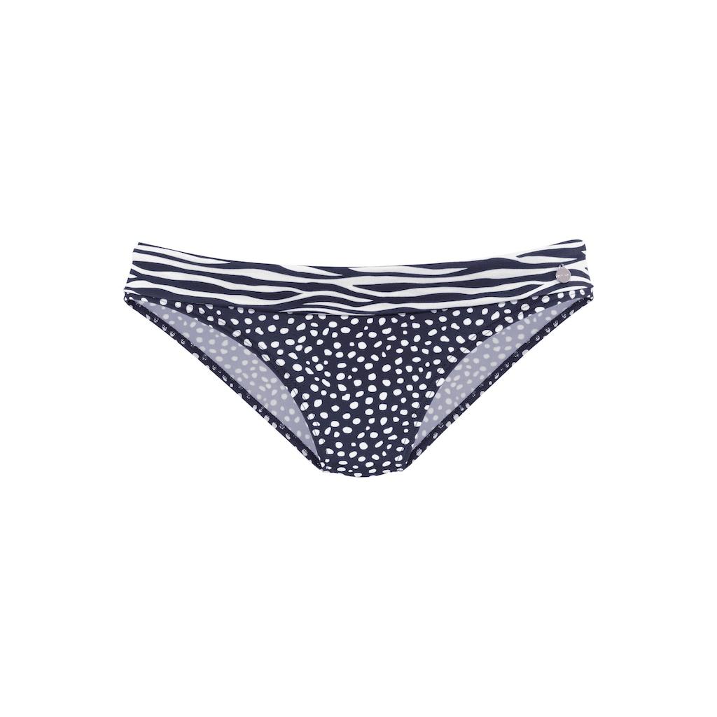 LASCANA Bikini-Hose »Safari«, mit Umschlagbund