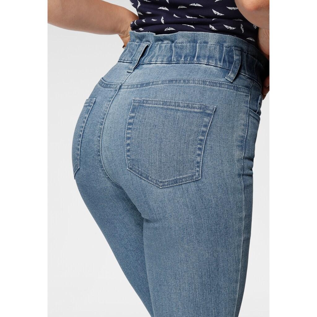 Arizona Slim-fit-Jeans »im Paperbag- Style«, High Waist