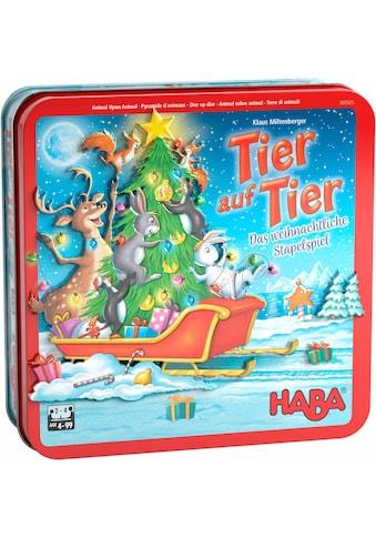 Haba Spiel »Tier auf Tier – Das weihnachtliche Stapelspiel«, ; Made in Germany kaufen