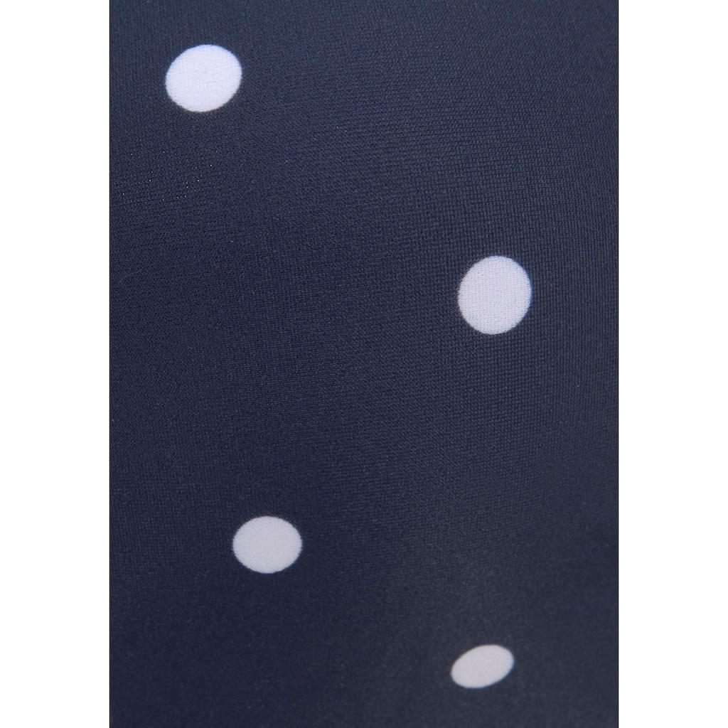 s.Oliver Beachwear Bügel-Bandeau-Bikini-Top »Audrey«, mit Mustermix aus Punkten und Streifen