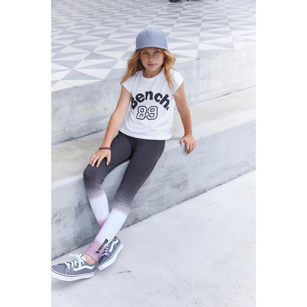 Bench. Leggings, mit Batikoptik und Logodruck