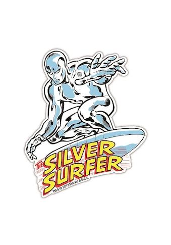 LOGOSHIRT Magnet in coolem Silver Surfer - Design kaufen