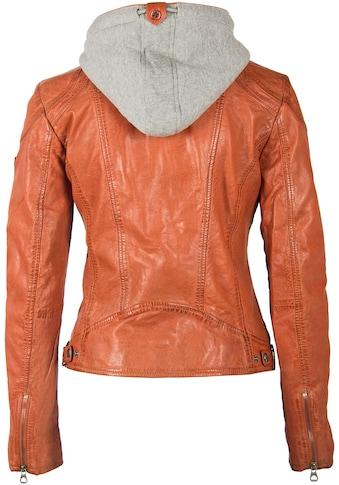 Gipsy Lederjacke »AMMY«, mit abnehmbarer Kapuze mit dezenten Kontrast-Details kaufen