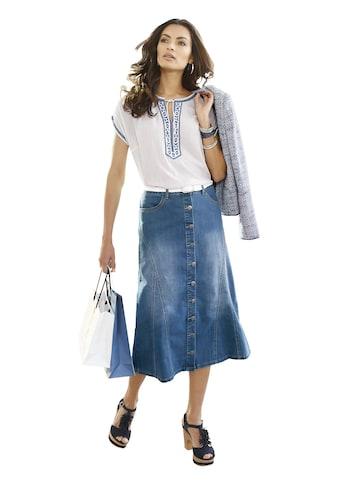 Classic Inspirationen Jeans - Rock in leichter A - Form kaufen