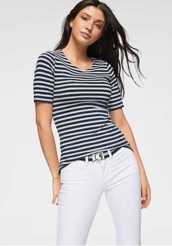 Gant T-Shirt, mit kleiner Logostickerei am Ärmel kaufen