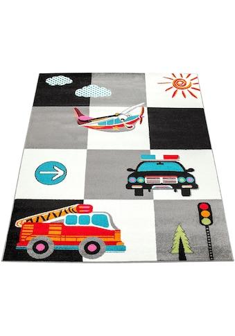 Paco Home Kinderteppich »ECE 998«, rechteckig, 14 mm Höhe, Kurzflor mit Verkehrmittel Motiven kaufen